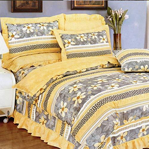 Crystallly Housse De Couette En Coton Four Seasons Fleurs À Rayures Simple Style Simple Etudiant Double J 180X220Cm (71X85Inch) (Color : J, Size : 150x215Cm)