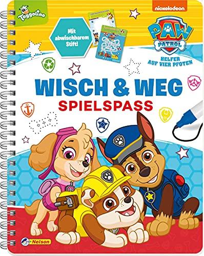 PAW Patrol: Wisch & Weg - Spielspaß: mit abwischbaren Seiten und Stift | Buch zum spielerischen Lernen (ab 4 Jahren)