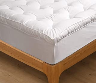 MARQUESS Mattress Topper with Mattress Skirt, Ultra-Soft Quilted Mattress Cover Stretches up to 16 inches Deep