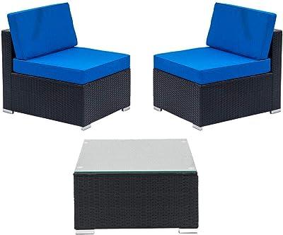 Amazon.com: Walsunny - Juego de 7 muebles de exterior para ...