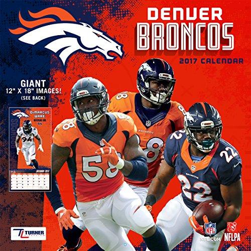 "Turner Licensing Sport 2017 Denver Broncos Team Wall Calendar, 12""X12"" (17998011908)"