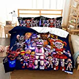 Haonsy Boys FNAF Bedding Sets Bed Adult Five Nights at Freddy's Game Comforter Cover Twin Szie