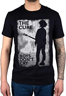 Official The Cure Boys Don't Cry Black and White T-Shirt