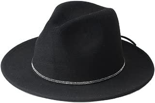 Bin Zhang Women's Men's Band Chapeu Feminino Fedora Hat With Wide Brim Jazz Church Cap Panama Top Sun
