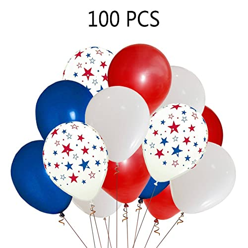 Moon Boat Patriotic Decorations Star Latex Balloons