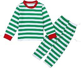 Winmany Baby Boys Girls Striped Christmas Nightwear Pajamas Sleepwear T-Shirt and Pants Set