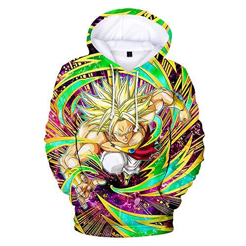 KFRSQ Heren Dragon Ball 3D Print Pullover met capuchon met zak, trui met lange mouwen blouse heren pullover oversize hoodies sweatshirt Kerstmis