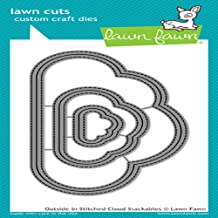 Lawn Fawn Lawn Cuts Craft Die - LF1716 Outside/In Stitched Cloud Stackables