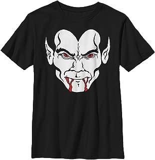 LOST GODS Boys' Halloween Dracula Vampire Face T-Shirt