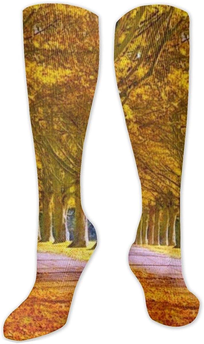 Full Leave Knee High Socks Leg Warmer Dresses Long Boot Stockings For Womens Cosplay Daily Wear
