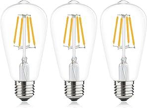 Luxvista ST64 LED gloeidraad lamp 12 V 4 W Edison Vintage gloeilamp warm wit 2700 K 360 ° stralingshoek Retro nostalgie st...