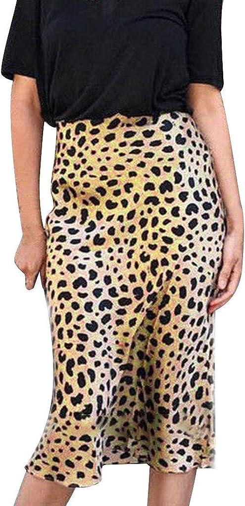 Women's Leopard Madi Dress Popularity Summer Daily Cash special price High Waist Long Ruffle F