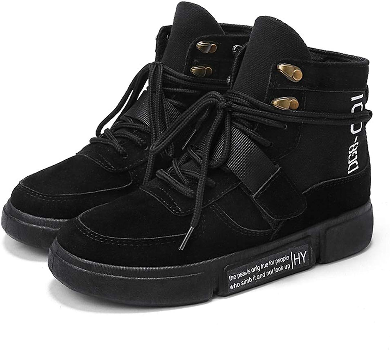 T-JULY Women Winter Fur Platform Sneakers Autumn Female High Top Wedge Side Zipper Fashion Casual Warm Snow Sneakers