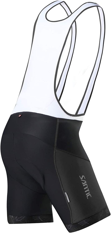 Santic Cycling Bike Bib Shorts Men Padded Tights Bicycle Pants Excellent Performance