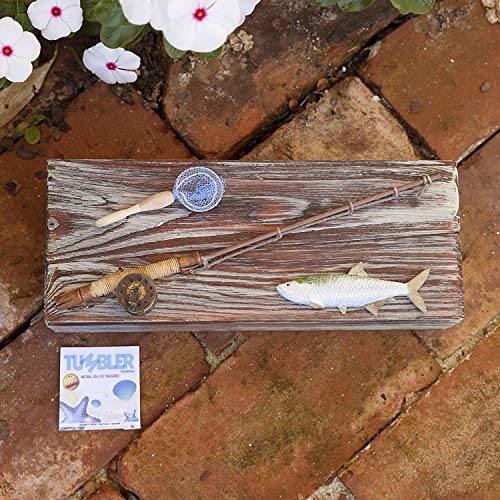Wooden, Nautical, Fishing Box for Coins, Keys or the Man Cave. Best Seller Birthday Gift for Dad!