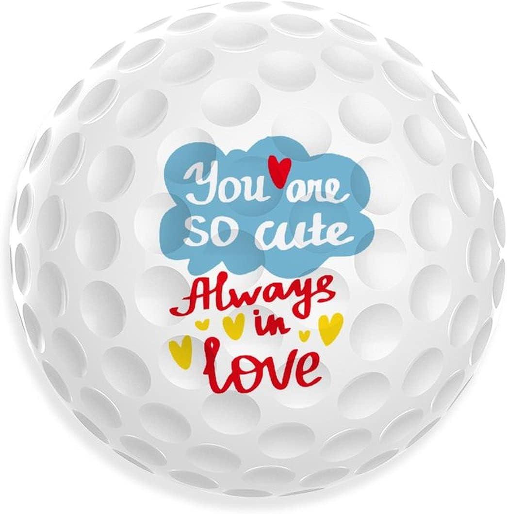 Dog Dad 2021 new Print Golf Balls Funny Ball Recreation C Jacksonville Mall Outdoor Indoor