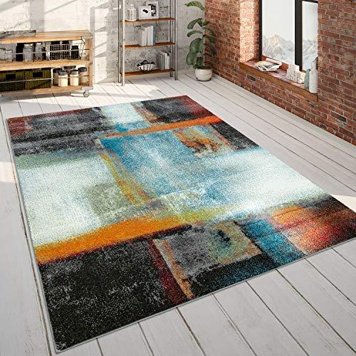 Tapis De Créateur, Tapis À Poils Ras avec Motif Abstrait Dégradé De Couleur, Multicolore, Dimension:160x220 cm