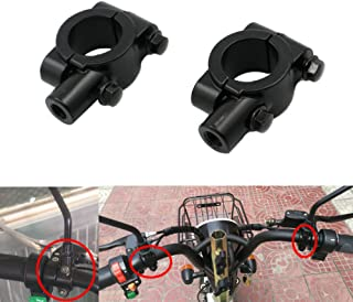 Alpha Rider Universal Black Motorcycle Bike Handlebar Rearview Mirror Mount Adapter Clamp 8mm for Aprilia BMW Ducati Honda Kawasaki Suzuki Triumph Yamaha Street Bike Sport Off road Scooter Naked ATV