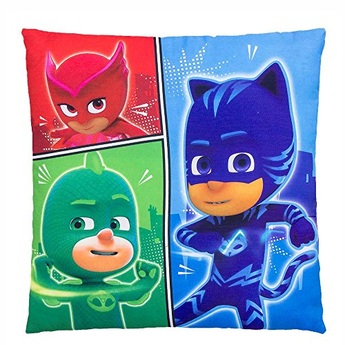Pyjamahelden PJ Masks Power | Kinder Kissen 35 x 35 cm Kuschelkissen
