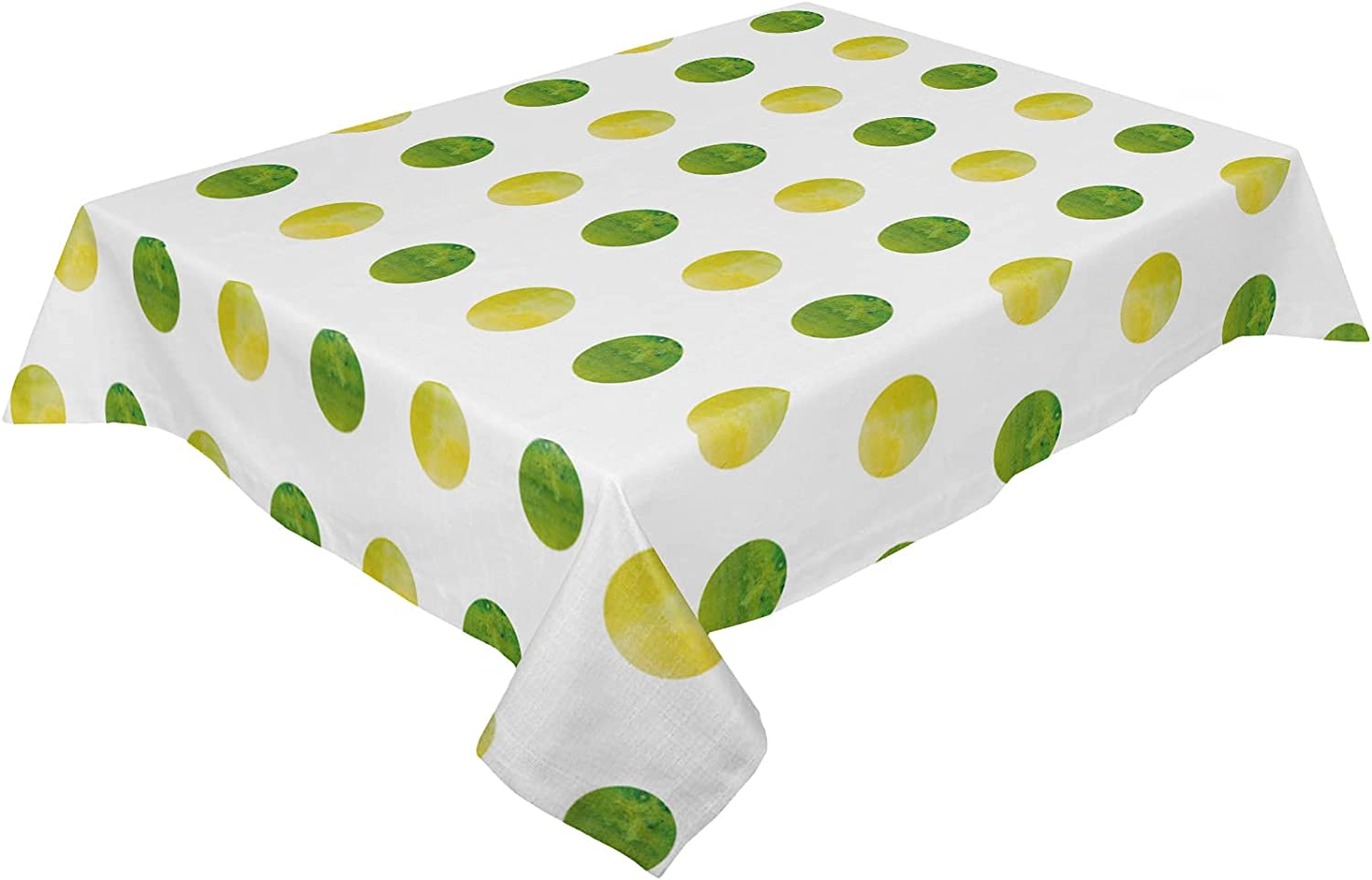 TweetyBed Cotton Linen Tablecloth Super beauty product restock quality top Watercolor Geometric Dot El Paso Mall Wrink