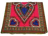 RaanPahMuang African Dashiki Heart Cotton Fabric Suitable
