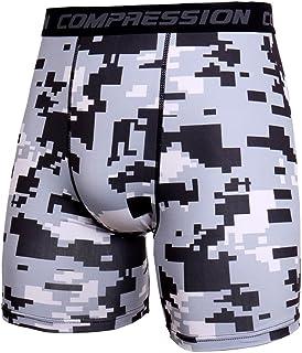 Xmiral Uomo Sportivi Shorts Compressione Asciugatura Veloce Base Layer Fitness Pantaloni Corta