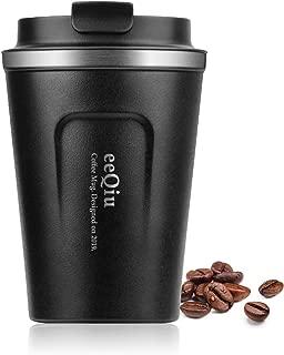eeQiu Taza de café para Llevar 13oz 100% a Prueba de Fugas