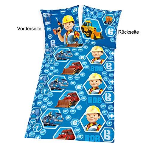 Herding Bettwäsche- Set Bob der Baumeister, Mikrofaser, Mehrfarbig, 200 x 135 cm