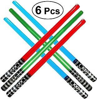 Toyvian 100cm Grandes Espadas inflables   Sable de luz Juguetes para Niños, Paquete de 6