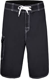 Nonwe Men's Solid Lightweight Beach Shorts Half Pants with Lining