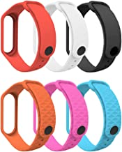 MoKo Band Compatible with Xiaomi Mi Band 3/Mi Band 4, 6 PCS Replacement Soft Sport Wristband Strap Bracelet Fit Xiaomi Mi Band 3/Mi Band 4 Smart Watch - Multi Color B