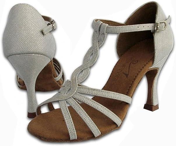 YFF Les Femmes Chaussures de Danse Salsa Latine Satin Sandales