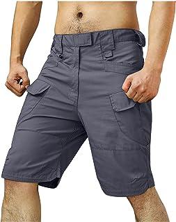 Riou Pantaloncini da Trekking da Uomo, Pantaloncini Sportivi Bermuda Alpinismo all'aperto Tempo Libero Leggero, Ampio, Tra...