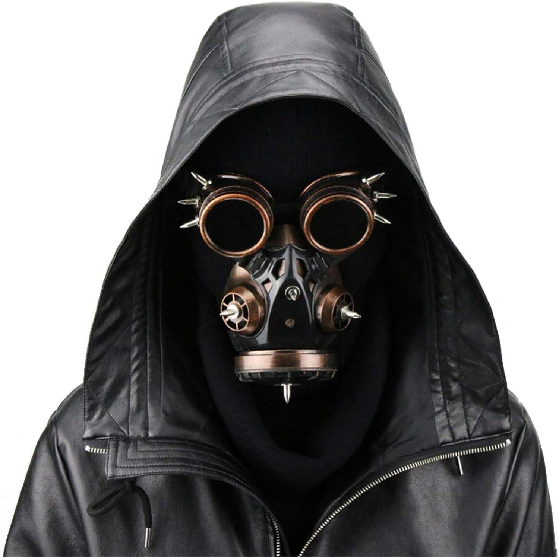 MAGAI Biohazard Steampunk Gasmaske Goggles Spikes Skeleton Krieger Death Mask Masquerade Cosplay Halloween Kostüm Requisiten (Farbe   Style2)