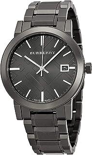 Swiss Rare Gunmetal Black Gray Date Dial 38mm Unisex Men Women Stainless Steel Wrist Watch The City BU9007