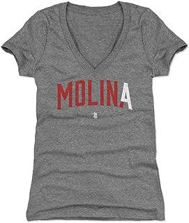 500 LEVEL Yadier Molina Women's Shirt - St. Louis Baseball Shirt for Women - Yadier Molina MOLIN4