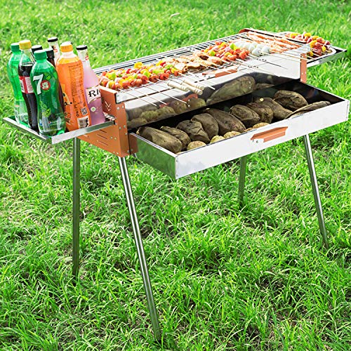 Fantastic Prices! YANGLAN BBQ Grill, Stainless Steel Grill, Outdoor/Home Portable Charcoal Grill, Po...