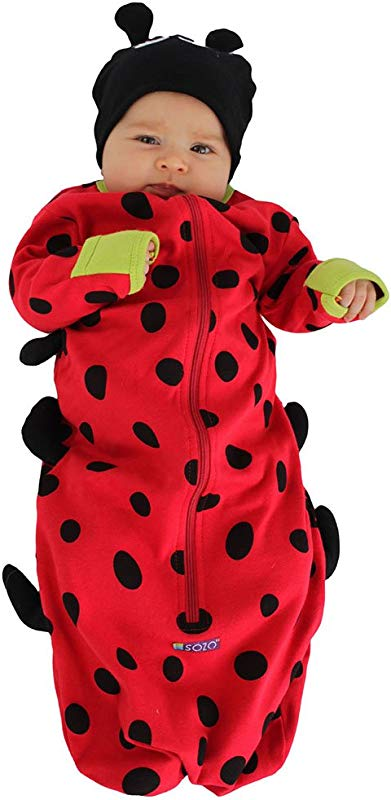 Sozo Baby Girls Ladybug Bunting And Hat Set