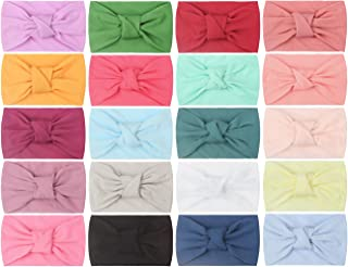 Baby Girl Bows Headbands Hair Accessories for Newborn Infant Toddler Girls' Shower (Peace Knot 20Pcs)