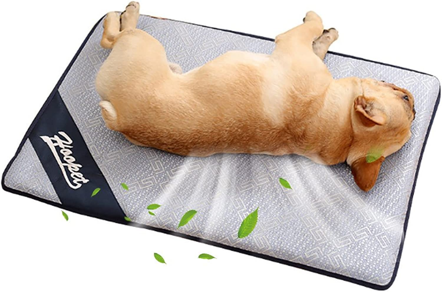 Dog Cooling Pad, Leegoal Dog Cooling Mat Comfortable Summer Sleeping Cooling Bed, NonToxic Breathable Rattan Pet Cooling Mat for Dog, Cat