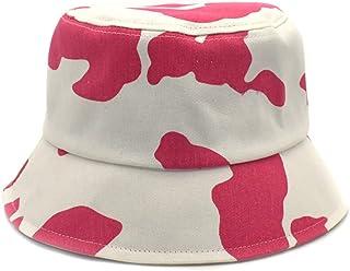 للجنسين طباعة البقرة دلو قبعة قابلة للطي أسود أبيض وردي نمط صياد السمك قبعة الصيف قبعات الشمس للنساء الرجال الفتيات