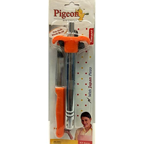 Pigeon by Stovekraft Gas Lighter Smart with Stand and Free 1 Knife