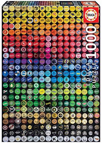 Educa Collage de chapas. Puzzle de 1000 Piezas. Ref. 19026, Multicolor