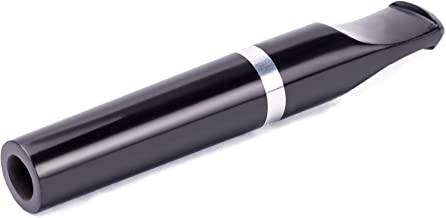 "Dr Watson - 3"" Cigarette Holder, Metal Cooling Filter Inside, for Roll Ups, Choice of Regular, Slim or Extra Slim (Black, Slim)"