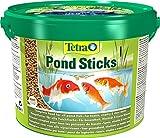 tetra pond sticks, mangime per pesci di stagno, per pesci sani e acqua limpida, 10 l