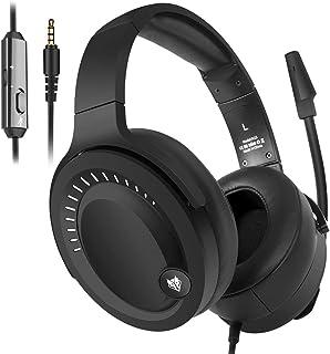NUBWO N15ゲーミングヘッドセット調節可能なマイク付き快適な軽量高品質有線ヘッドセットPC / PS4 / Mac /Switch/ wiiu / Xbox one/タブレット3.5mm対応 男女兼用