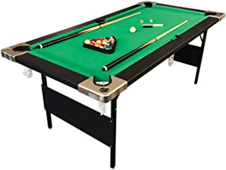 6 Ft Pool Table Billiard folding legs Green Cloth Indoor Sports 6ft Game billiards table NEW - 6FT ALADIN