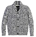Gioberti Boy's 100% Cotton Knitted Shawl Collar Cardigan Sweater, Gray, Size 7