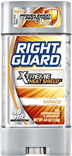 Right Guard Xtreme Heat Shield Antiperspirant and Deodorant Gel, Mirage 4 ounces (Pack of 4)
