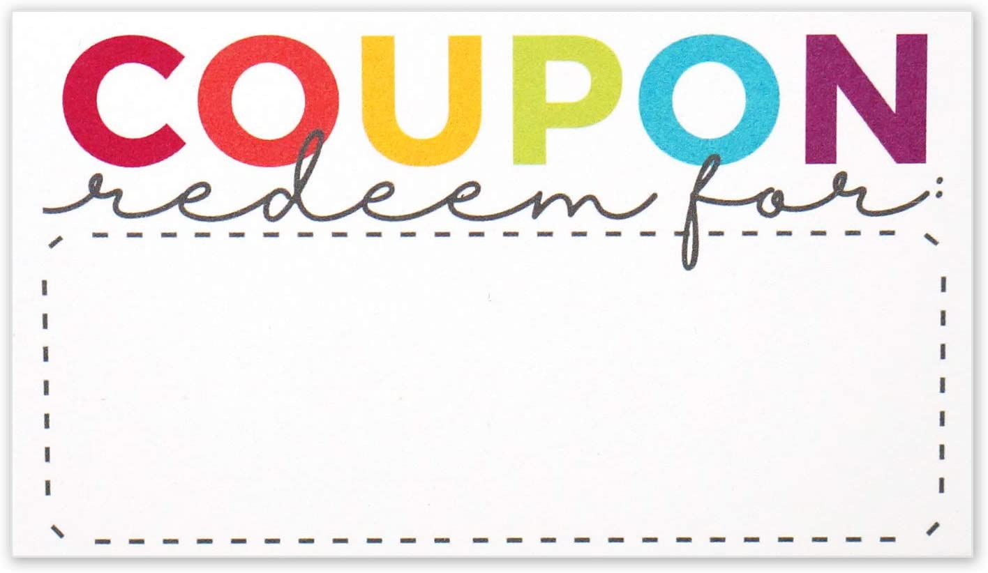 Coupon Cards Bombing free Attention brand shipping - Blank Coupons for Certificates DIY or Gift Vouche
